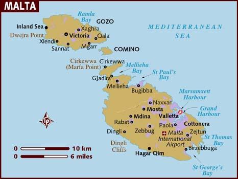 map of malta - MALTA: UMA PEQUENA MUITO NOTÁVEL