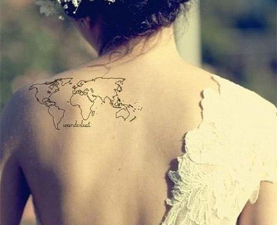 tatuagem mapa mundi wanderlust costas 400x325 - MINHA TATUAGEM DE MAPA MUNDI