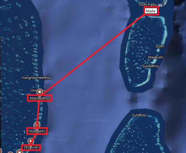 map dhigurah - MALDIVAS EM MODO ECONÔMICO: DHIGURAH ISLAND